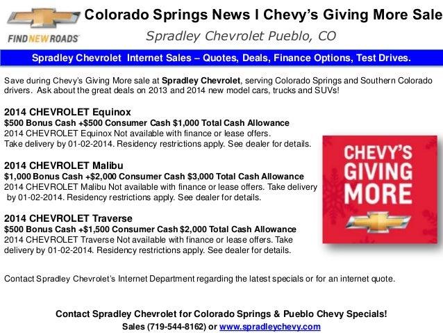 Colorado Springs News L Chevy S Giving More L Spradley Pueblo