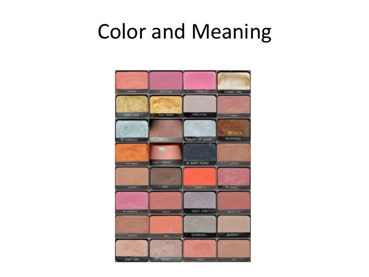 Color and Meaning<br />