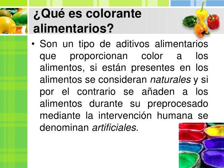 Colorantes alimenticios