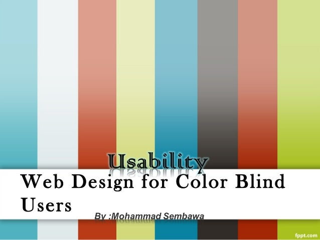 Web Design for Color BlindUsers