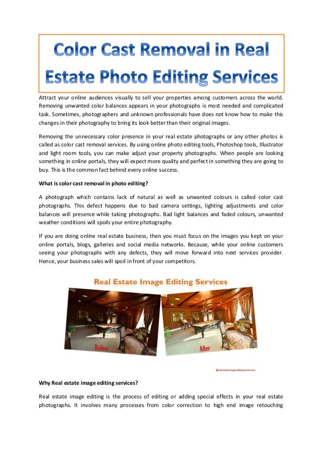 Real estate photo editing services in india
