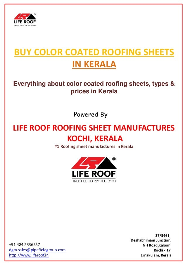 BUY COLOR COATED ROOFING SHEETS IN KERALA Everything About Color Coated Roofing Sheets Types