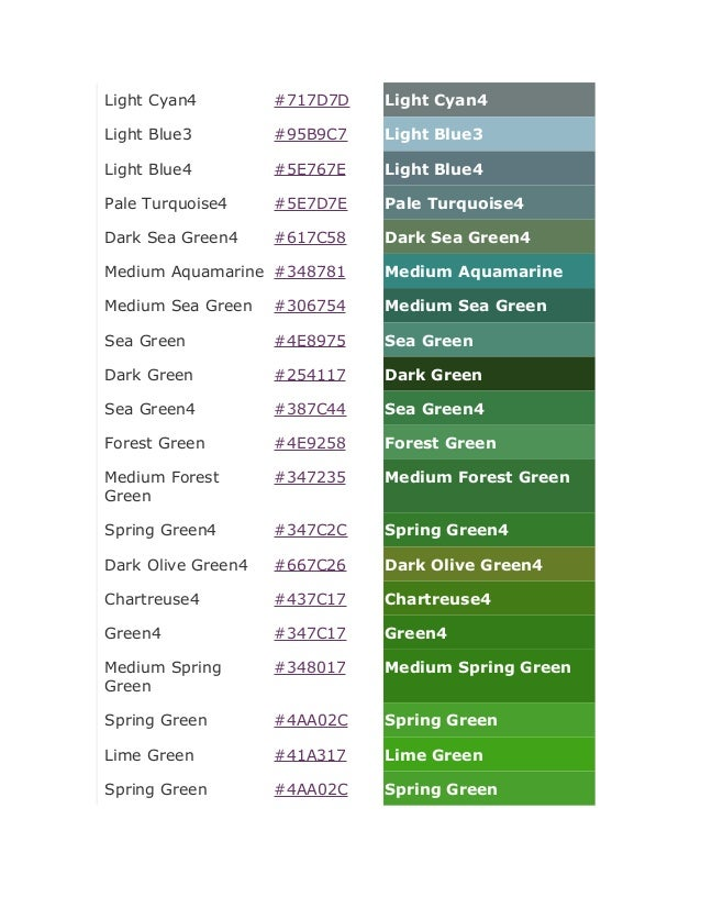 light green color code Gallery