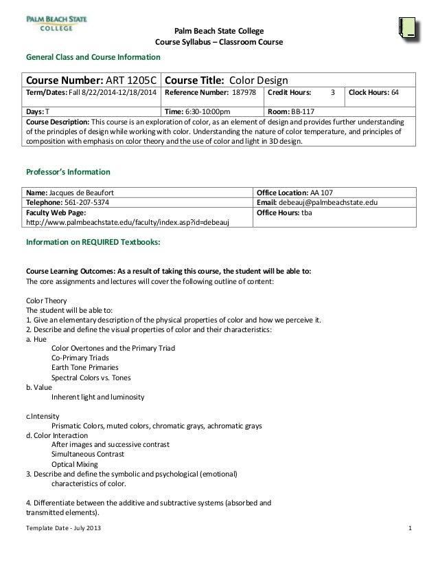 course curriculum template