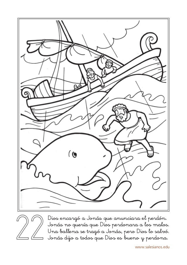 Moderno Jonah Hoja Para Colorear Festooning - Páginas Para Colorear ...