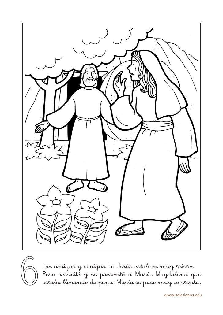 Imagenes Para Colorear De Jesus Y Maria Magdalena - ARCHIDEV