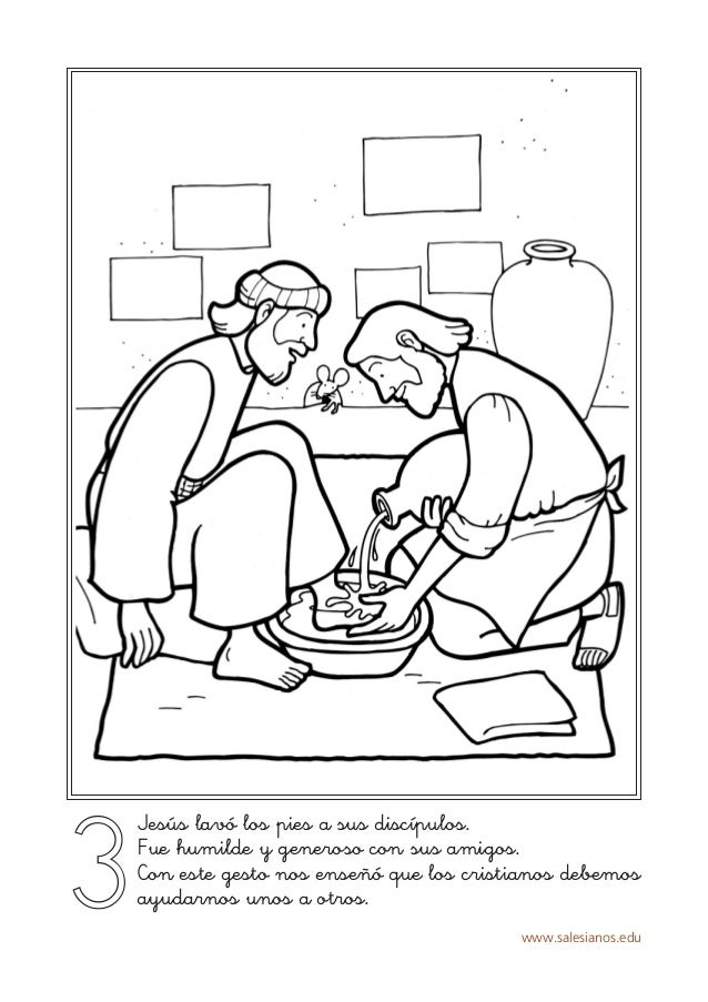 www.salesianos.edu 3 Jesús lavó los pies a sus discípulos. Fue humilde y generoso con sus amigos. Con este gesto nos enseñ...