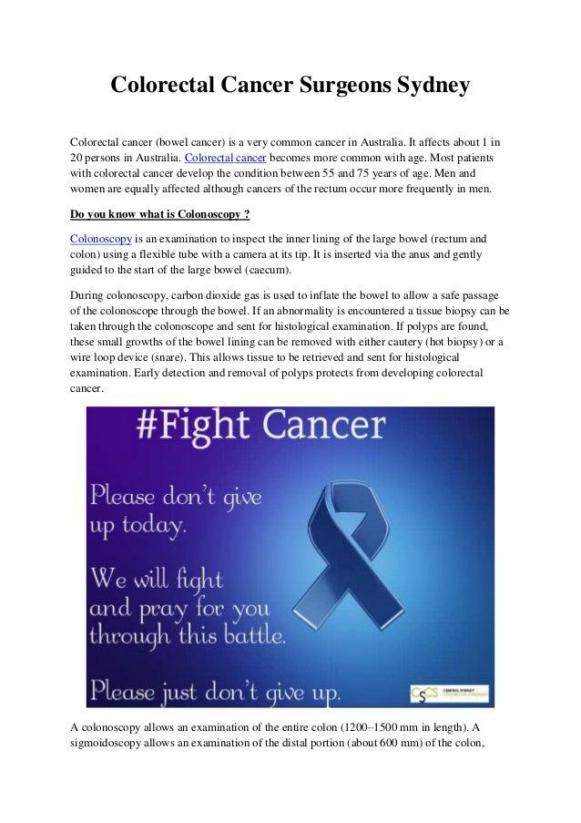 Colorectal Cancer Surgeons Sydney