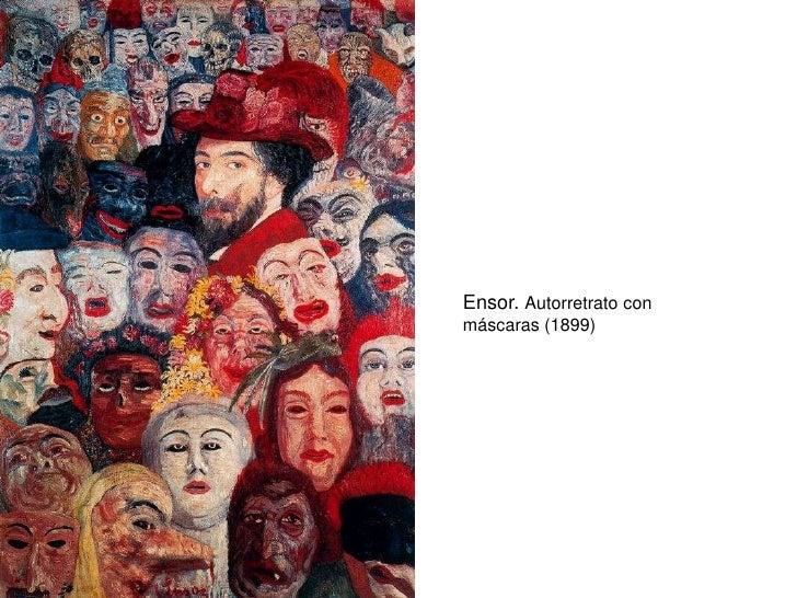 Ensor. Autorretrato con máscaras (1899)