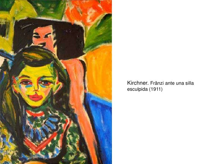 Kirchner. Fränzi ante una silla esculpida (1911)