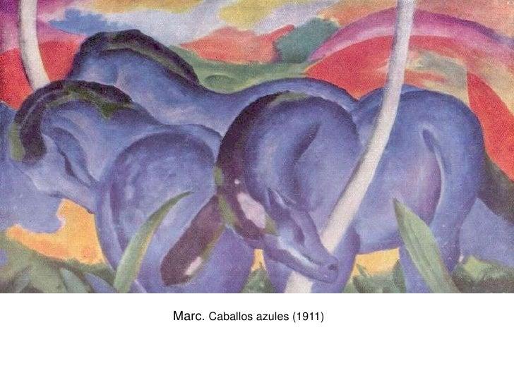 Marc. Caballos azules (1911)