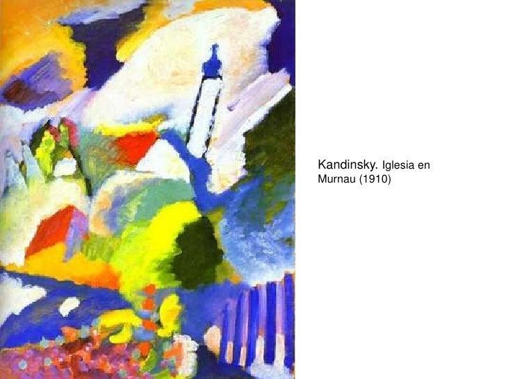 Kandinsky. Iglesia en Murnau (1910)