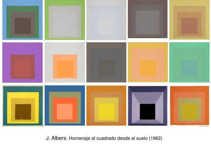 J. Albers. Homenaje al cuadrado desde el suelo (1962)