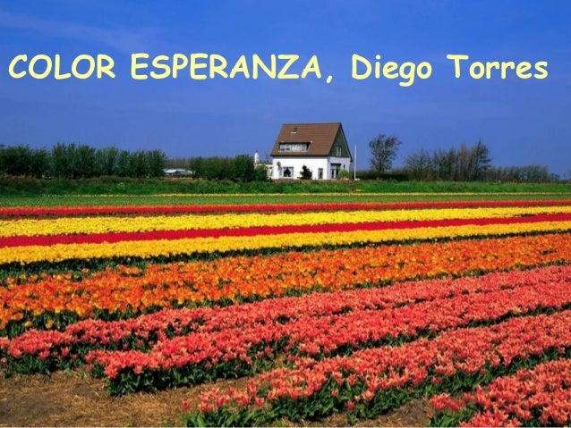 COLOR ESPERANZA, Diego Torres