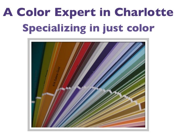 A Color Expert in Charlotte Specializing in just color