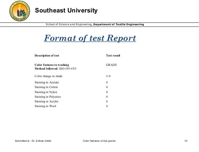 unique dr test report template