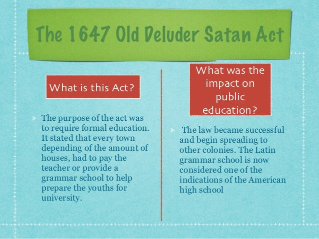 the old deluder satan act
