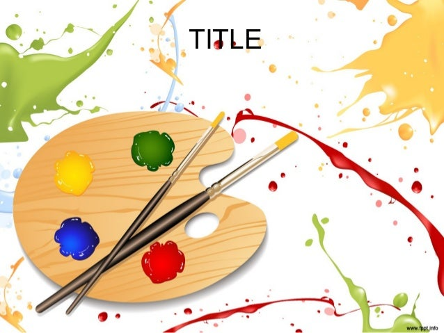 colorful paint powerpoint presentation template