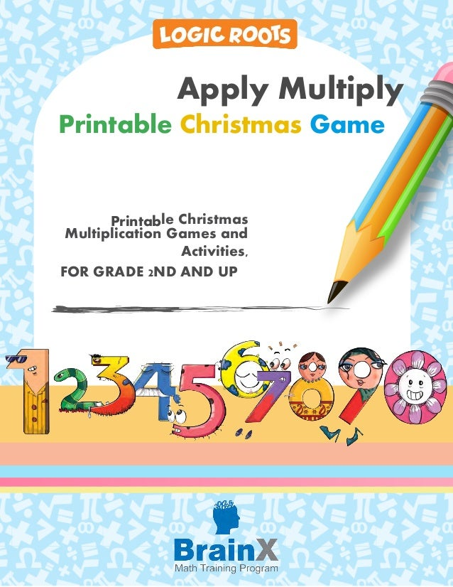 image relating to Printable Multiplication Game identify Colourful printable xmas multiplication video game : Employ