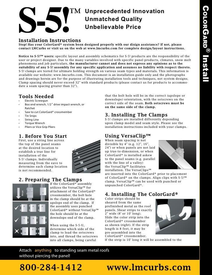 COLORGARD® Install                                                            Unprecedented Innovation                    ...