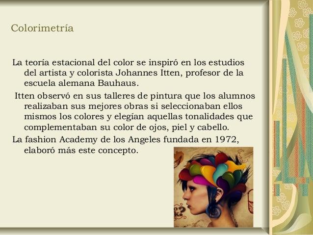 Colorimetría. La teoría estacional del Color Slide 2