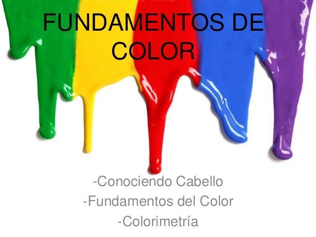 Colorimetría fundamentos del color