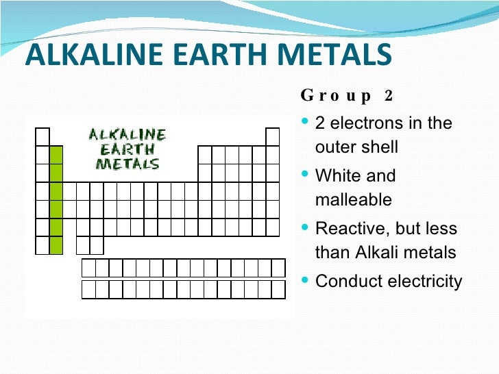 Coloring the periodic table families alkaline earth metals urtaz Images