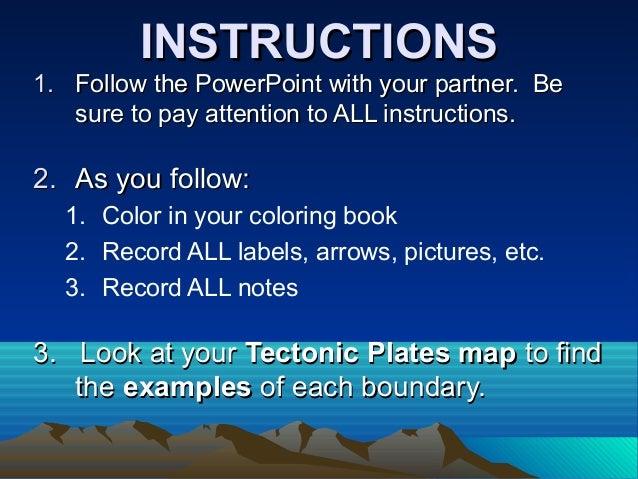 INSTRUCTIONSINSTRUCTIONS 1.1. Follow the PowerPoint with your partner. BeFollow the PowerPoint with your partner. Be sure ...