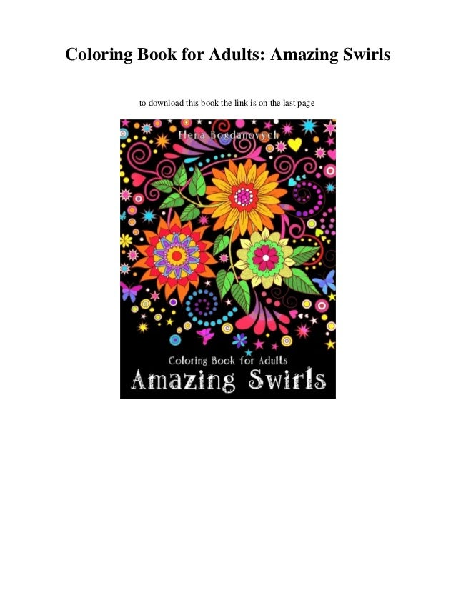 Amazing Swirls Coloring Book for Adults