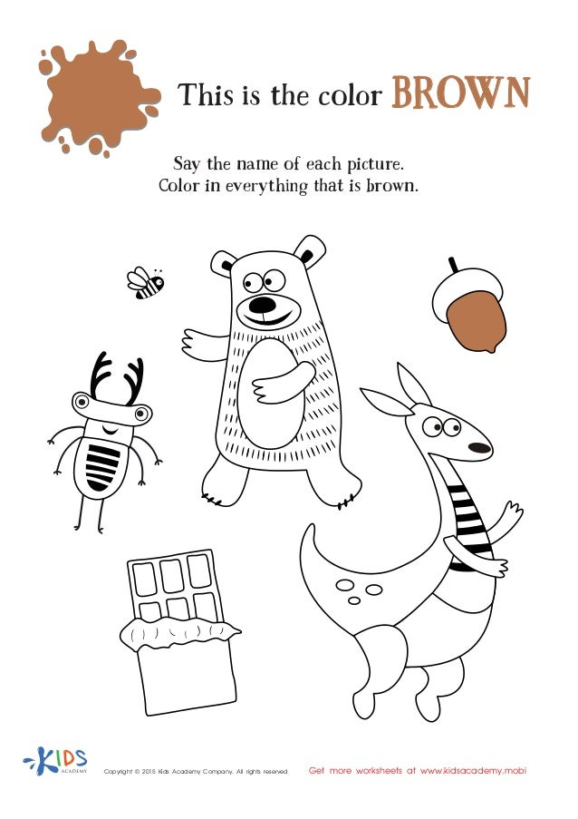 Learning Color Brown for Toddlers and Preschool
