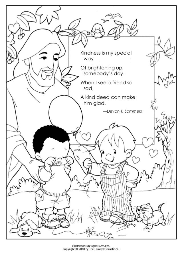 Coloring Pages God Made My Body And A Kind Deed