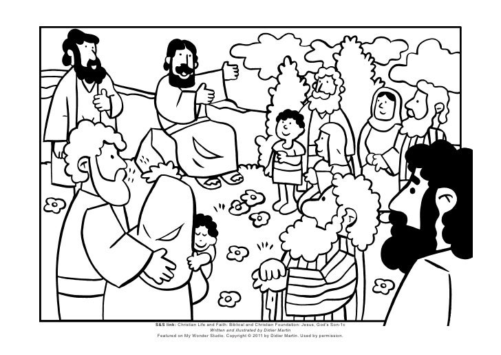 Coloring page the sermon on the mount