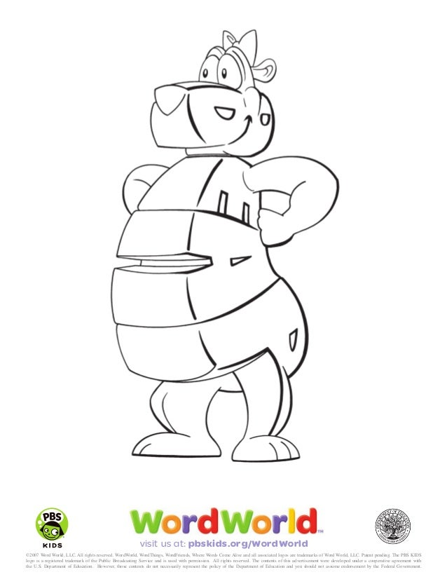 coloring sheets wf_part11 - Word World Coloring Pages