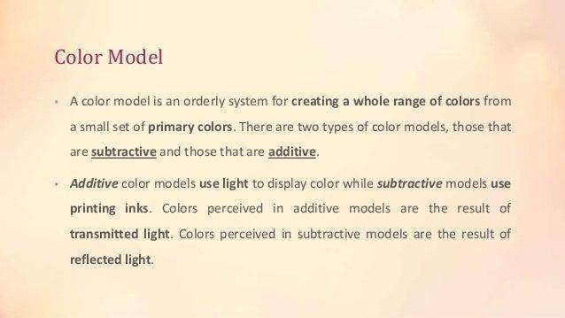 Color Models Slide 2