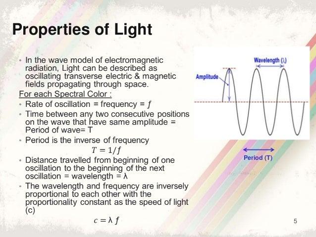 5 Period (T) Properties of Light