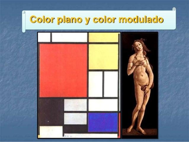 Color plano y color modulado
