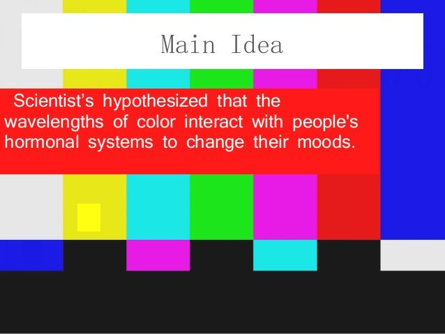 Colors And Their Moods color powerpoint