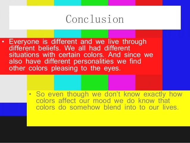 Colours And Their Moods color powerpoint