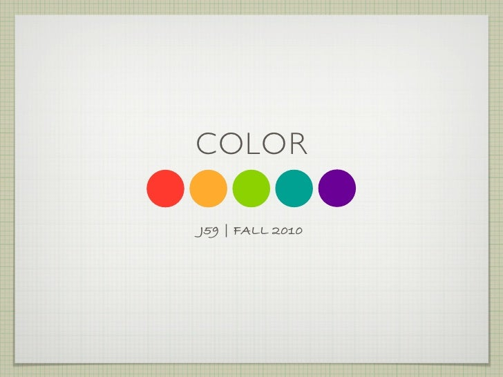 COLOR  J59 | FALL 2010