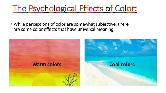 Warm colors Cool colors; 8.