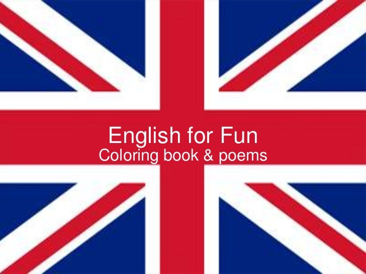 English for Fun<br />Coloring book& poems <br />