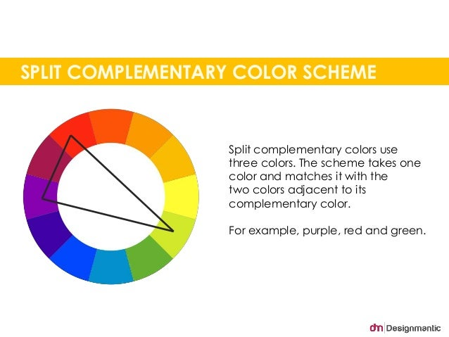 SPLIT COMPLEMENTARY COLOR SCHEME Split