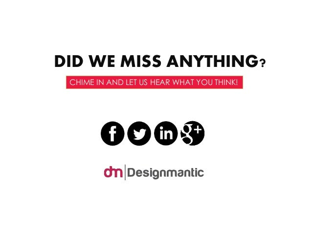 DID WE MISS ANYTHING?  CHIME IN AND LET US HEAR WHAT YOU THINK!