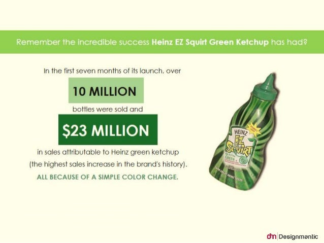 Heinz EZ Squirt Green Ketchup  In the first seven months of its launch, over 10 million bottles were sold and $23 million ...