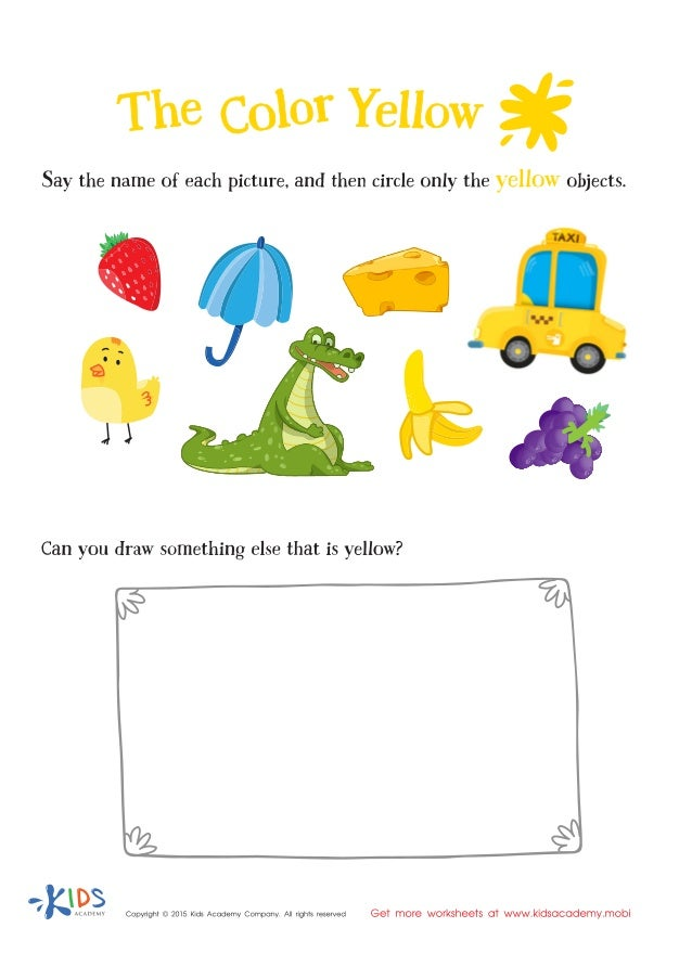 Learning colors for children - Yellow