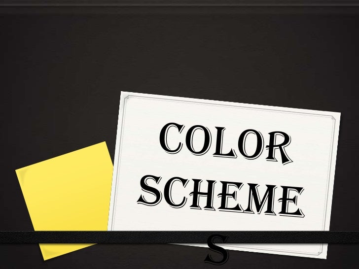 Color Scheme-Color combinations   based on colorwheel relationships that are known to be pleasing to the       senses