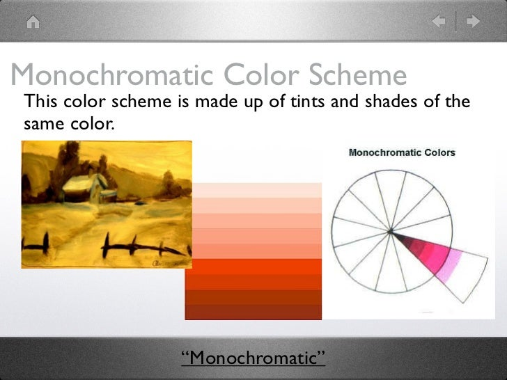 Monochromatic Color Scheme Definition color schemes ppt