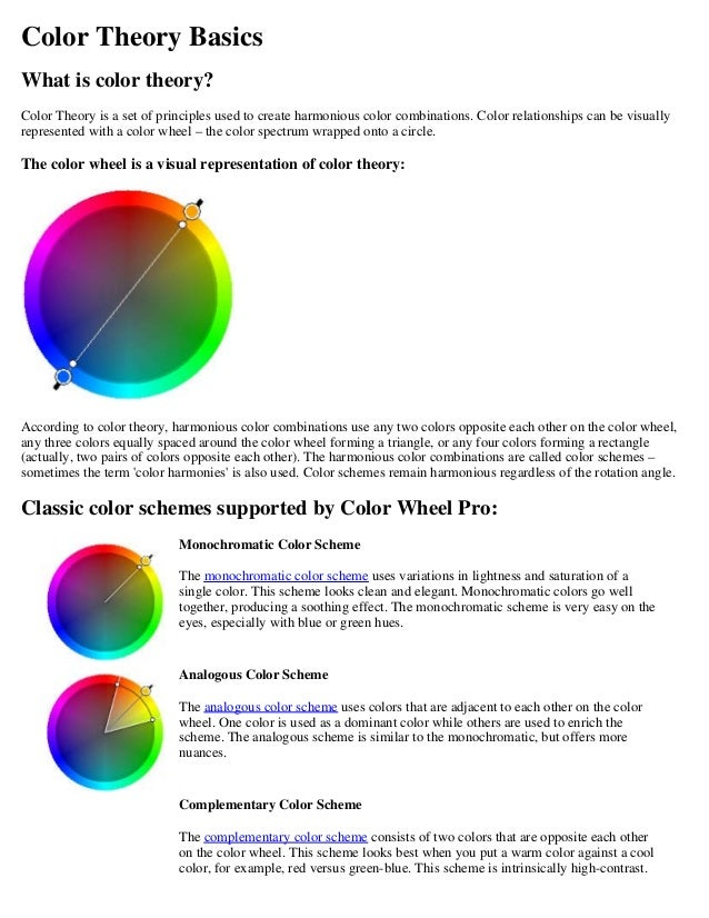 Color Theory Basics What is color theory? Color Theory is a set of  principles used Split Complementary Color Scheme ...