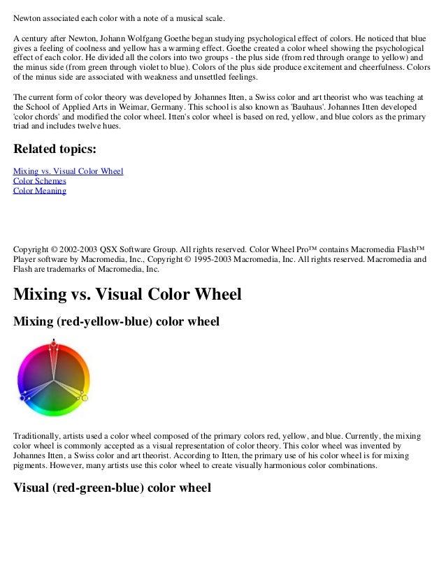 Colorstheory