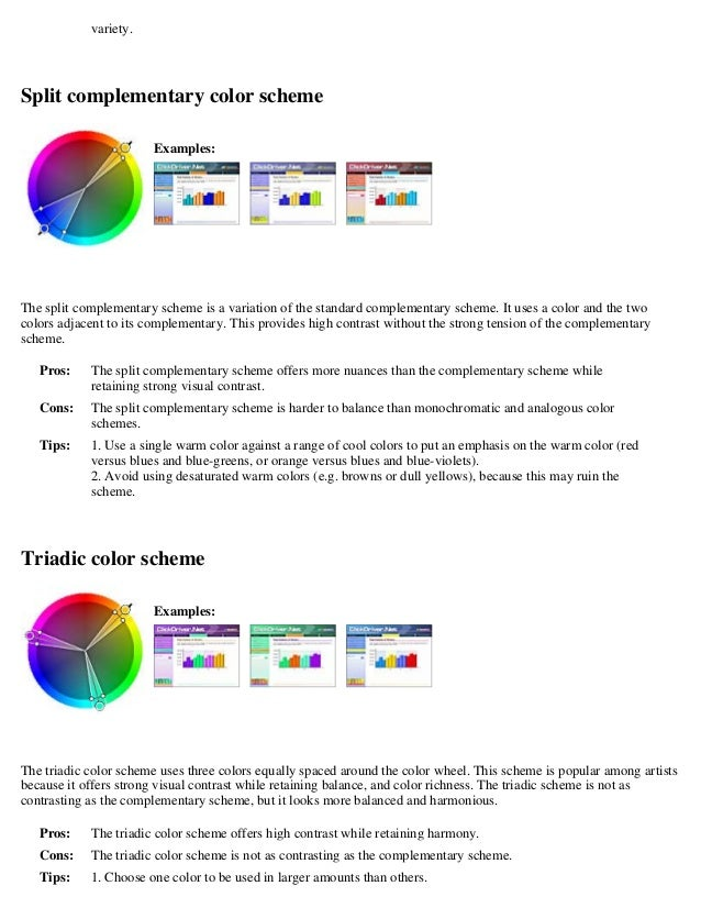 Colorstheory - Split complementary colors examples ...